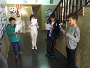 Selección centro - Alumnos finalistas preparándose
