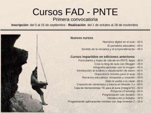 Cursos FAD del PNTE 2018-19